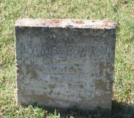 LAMBERTSON, UNKNOWN - Lawrence County, Arkansas | UNKNOWN LAMBERTSON - Arkansas Gravestone Photos