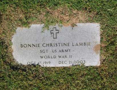 LAMBIE (VETERAN WWII), BONNIE CHRISTINE - Lawrence County, Arkansas   BONNIE CHRISTINE LAMBIE (VETERAN WWII) - Arkansas Gravestone Photos