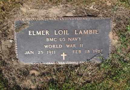LAMBIE (VETERAN WWII), ELMER LOIL - Lawrence County, Arkansas | ELMER LOIL LAMBIE (VETERAN WWII) - Arkansas Gravestone Photos