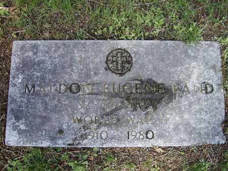 LAND (VETERAN WWII), MALDON EUGENE - Lawrence County, Arkansas | MALDON EUGENE LAND (VETERAN WWII) - Arkansas Gravestone Photos