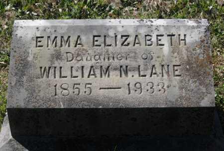 LANE, EMMA ELIZABETH - Lawrence County, Arkansas   EMMA ELIZABETH LANE - Arkansas Gravestone Photos