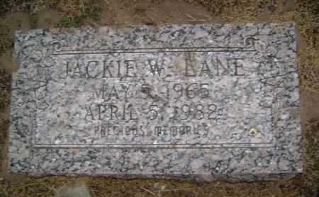 LANE, JACKIE W. - Lawrence County, Arkansas | JACKIE W. LANE - Arkansas Gravestone Photos