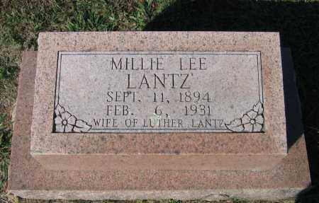 WHITLOW LANTZ, MILLIE LEE - Lawrence County, Arkansas | MILLIE LEE WHITLOW LANTZ - Arkansas Gravestone Photos