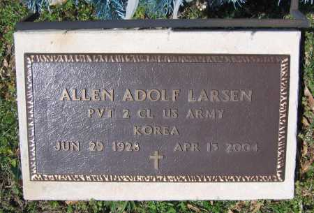 LARSEN (VETERAN KOR), ALLEN ADOLF - Lawrence County, Arkansas | ALLEN ADOLF LARSEN (VETERAN KOR) - Arkansas Gravestone Photos