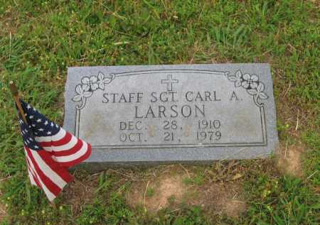 LARSON (VETERAN WWII), CARL A. - Lawrence County, Arkansas | CARL A. LARSON (VETERAN WWII) - Arkansas Gravestone Photos