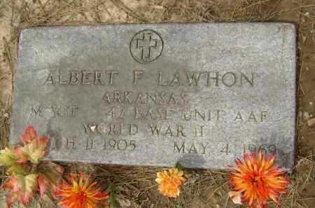 LAWHON  (VETERAN WWII), ALBERT F. - Lawrence County, Arkansas   ALBERT F. LAWHON  (VETERAN WWII) - Arkansas Gravestone Photos