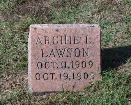 LAWSON, ARCHIE LEE - Lawrence County, Arkansas | ARCHIE LEE LAWSON - Arkansas Gravestone Photos