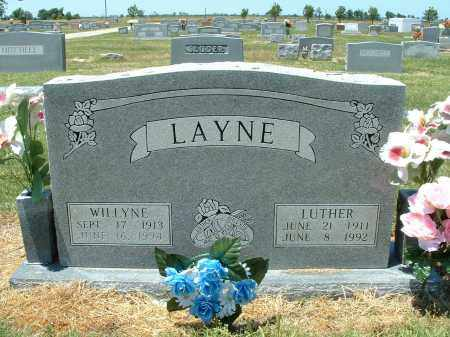 COLLIER LAYNE, SARAH WILLYNE - Lawrence County, Arkansas | SARAH WILLYNE COLLIER LAYNE - Arkansas Gravestone Photos