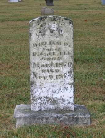 LEE, WILLIAM D. - Lawrence County, Arkansas   WILLIAM D. LEE - Arkansas Gravestone Photos