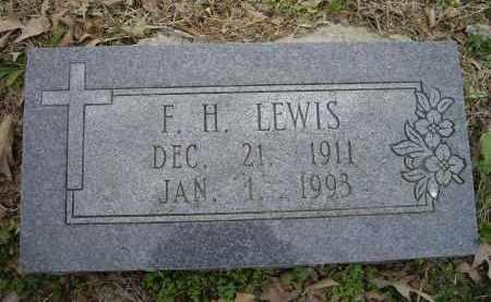 LEWIS, F. H. - Lawrence County, Arkansas   F. H. LEWIS - Arkansas Gravestone Photos