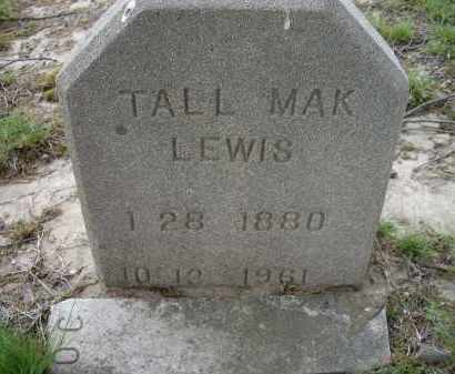 LEWIS, TAL MAK - Lawrence County, Arkansas | TAL MAK LEWIS - Arkansas Gravestone Photos
