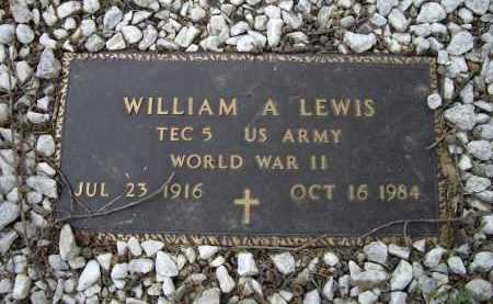 LEWIS (VETERAN WWII), WILLIAM ARLIE - Lawrence County, Arkansas | WILLIAM ARLIE LEWIS (VETERAN WWII) - Arkansas Gravestone Photos