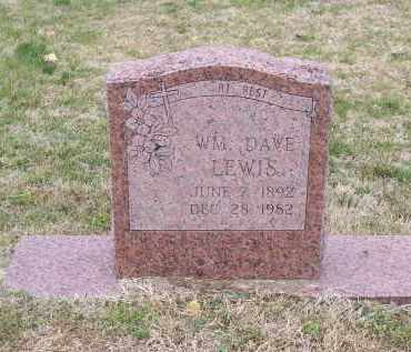 """LEWIS, WILLIAM DAVID """"DAVE"""" - Lawrence County, Arkansas 