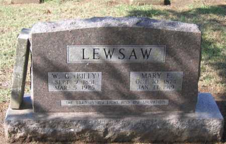 """LEWSAW, WILLIAM GREEN """"BILLY"""" - Lawrence County, Arkansas 