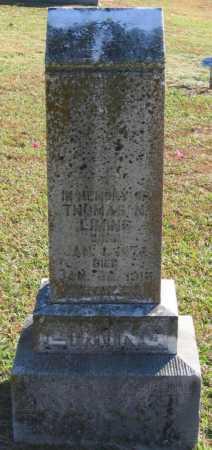 LIMING, THOMAS N. - Lawrence County, Arkansas | THOMAS N. LIMING - Arkansas Gravestone Photos