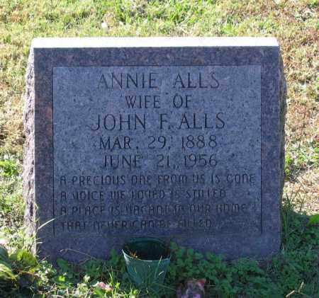 "ALLS, ANNA ""ANNIE"" DREW JAMES LINGO - Lawrence County, Arkansas | ANNA ""ANNIE"" DREW JAMES LINGO ALLS - Arkansas Gravestone Photos"