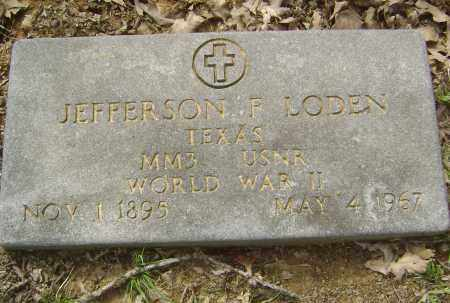 LODEN (VETERAN WWII), THOMAS JEFFERSON  FLOYD - Lawrence County, Arkansas | THOMAS JEFFERSON  FLOYD LODEN (VETERAN WWII) - Arkansas Gravestone Photos