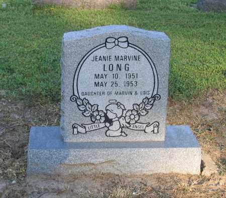 LONG, JEANIE MARVINE - Lawrence County, Arkansas   JEANIE MARVINE LONG - Arkansas Gravestone Photos