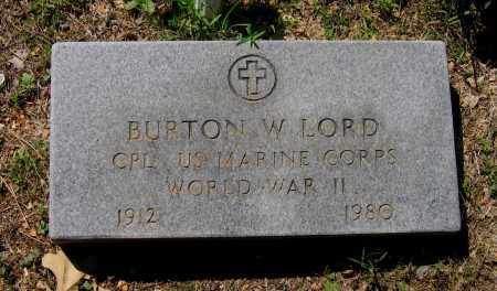 LORD (VETERAN WWII), BURTON W. - Lawrence County, Arkansas   BURTON W. LORD (VETERAN WWII) - Arkansas Gravestone Photos