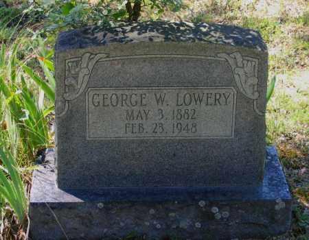 LOWERY, GEORGE WASHINGTON - Lawrence County, Arkansas   GEORGE WASHINGTON LOWERY - Arkansas Gravestone Photos