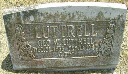 LUTTRELL, GEORGE W. - Lawrence County, Arkansas | GEORGE W. LUTTRELL - Arkansas Gravestone Photos