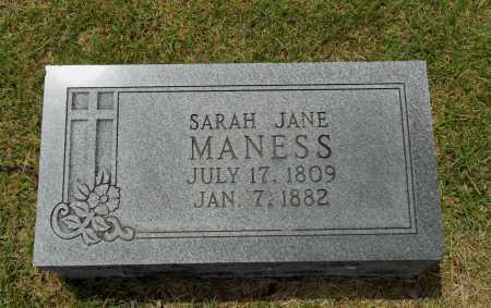 MANESS, SARAH JANE - Lawrence County, Arkansas | SARAH JANE MANESS - Arkansas Gravestone Photos