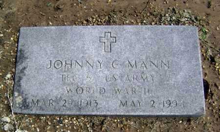 MANN  (VETERAN WWII), JOHNNY C. - Lawrence County, Arkansas | JOHNNY C. MANN  (VETERAN WWII) - Arkansas Gravestone Photos