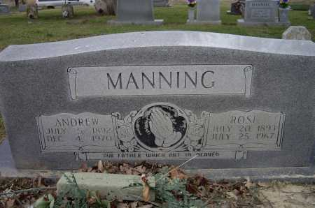 MANNING, ANDREW JACKSON - Lawrence County, Arkansas | ANDREW JACKSON MANNING - Arkansas Gravestone Photos