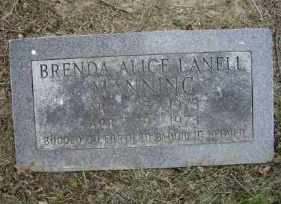 MANNING, BRENDA ALICE LANELL - Lawrence County, Arkansas | BRENDA ALICE LANELL MANNING - Arkansas Gravestone Photos