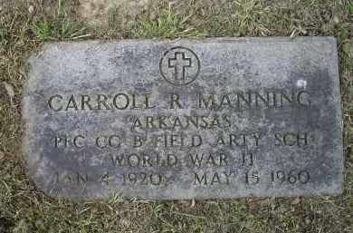 MANNING (VETERAN WWII), CARROLL R. - Lawrence County, Arkansas | CARROLL R. MANNING (VETERAN WWII) - Arkansas Gravestone Photos