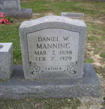MANNING, DANIEL W. - Lawrence County, Arkansas   DANIEL W. MANNING - Arkansas Gravestone Photos