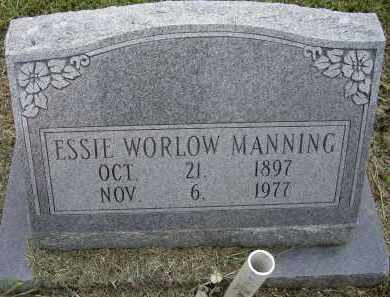 WORLOW MANNING, ESSIE - Lawrence County, Arkansas | ESSIE WORLOW MANNING - Arkansas Gravestone Photos