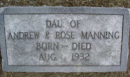 MANNING, INFANT DAUGHTER - Lawrence County, Arkansas | INFANT DAUGHTER MANNING - Arkansas Gravestone Photos