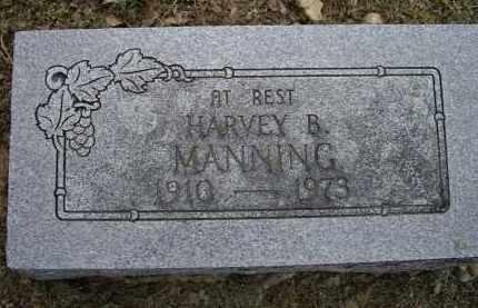 MANNING, HARVEY B. - Lawrence County, Arkansas   HARVEY B. MANNING - Arkansas Gravestone Photos