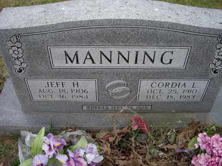 MANNING, JEFF H. - Lawrence County, Arkansas | JEFF H. MANNING - Arkansas Gravestone Photos