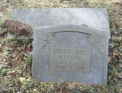 BALL MANNING, LILLIAN - Lawrence County, Arkansas | LILLIAN BALL MANNING - Arkansas Gravestone Photos