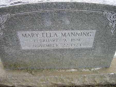 MANNING, MARY ELLA - Lawrence County, Arkansas | MARY ELLA MANNING - Arkansas Gravestone Photos