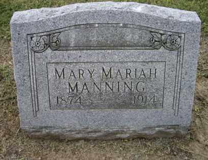 MANNING, MARY MARIAH - Lawrence County, Arkansas   MARY MARIAH MANNING - Arkansas Gravestone Photos