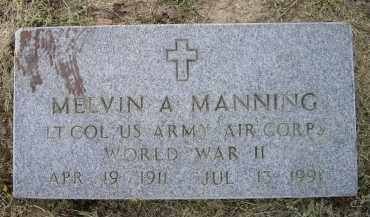 MANNING (VETERAN WWII), MELVIN A. - Lawrence County, Arkansas   MELVIN A. MANNING (VETERAN WWII) - Arkansas Gravestone Photos