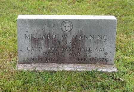 MANNING (VETERAN WWII), MILLARD WELLS - Lawrence County, Arkansas   MILLARD WELLS MANNING (VETERAN WWII) - Arkansas Gravestone Photos