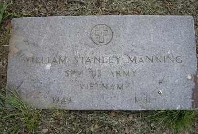 MANNING (VETERAN VIET), WILLIAM STANLEY - Lawrence County, Arkansas | WILLIAM STANLEY MANNING (VETERAN VIET) - Arkansas Gravestone Photos