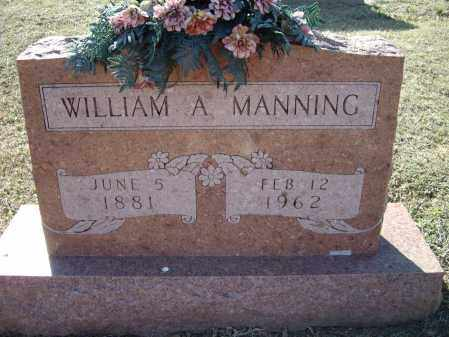 MANNING, WILLIAM A. - Lawrence County, Arkansas | WILLIAM A. MANNING - Arkansas Gravestone Photos