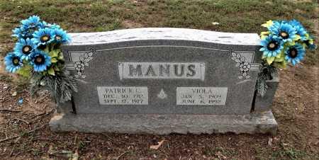 MANUS, PATRICK C. - Lawrence County, Arkansas | PATRICK C. MANUS - Arkansas Gravestone Photos