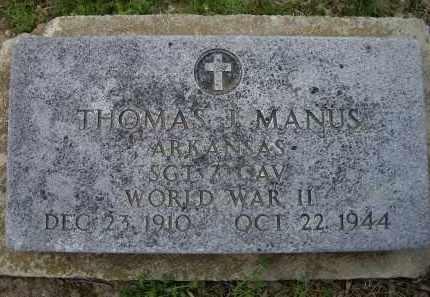 MANUS, THOMAS J. - Lawrence County, Arkansas | THOMAS J. MANUS - Arkansas Gravestone Photos