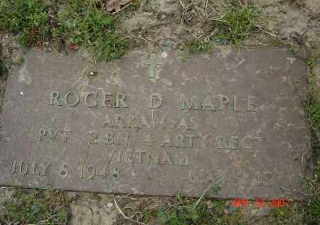 MAPLE (VETERAN VIET), ROGER D - Lawrence County, Arkansas | ROGER D MAPLE (VETERAN VIET) - Arkansas Gravestone Photos