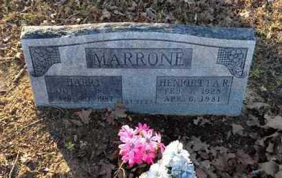 MARRONE, HARRY - Lawrence County, Arkansas | HARRY MARRONE - Arkansas Gravestone Photos