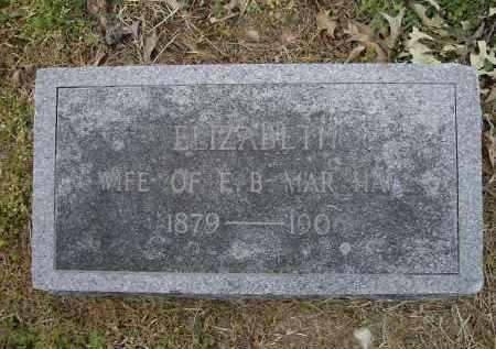 MARSHALL, ELIZABETH - Lawrence County, Arkansas   ELIZABETH MARSHALL - Arkansas Gravestone Photos