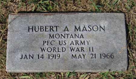 MASON (VETERAN WWII), HUBERT A. - Lawrence County, Arkansas   HUBERT A. MASON (VETERAN WWII) - Arkansas Gravestone Photos