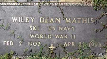 MATHIS (VETERAN WWII), WILEY DEAN - Lawrence County, Arkansas | WILEY DEAN MATHIS (VETERAN WWII) - Arkansas Gravestone Photos