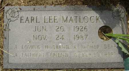 MATLOCK, EARL LEE - Lawrence County, Arkansas   EARL LEE MATLOCK - Arkansas Gravestone Photos